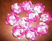Custom listing for Cassie.  20 Fuscia origami lotus flowers