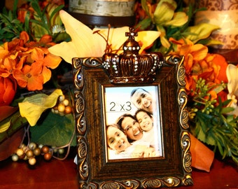 Swarovski Crystal Embellished Distressed Frame with crown
