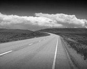 Highway 89 in Montana - a Black and White Photograph