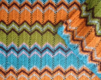 Zig zag pattern Misson- scarf/shawl, in wonderful Misson- colors.