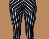 Geometric, striped, ergonomic handcrafted leggings. Original Design, made to flatter and fit.