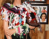 Recycled, Material, into Gypsy, Rag, Crocheted, Shawl ,that is very cool