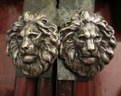 HUGE Lion Head Earrings