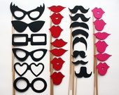 Photo Booth Props - 27 Piece - Party Props