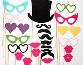 Photo Booth Props - 24 Piece - Ultimate Party