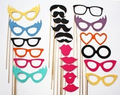 Photo Booth Props - 23 Piece - Ultimate Party