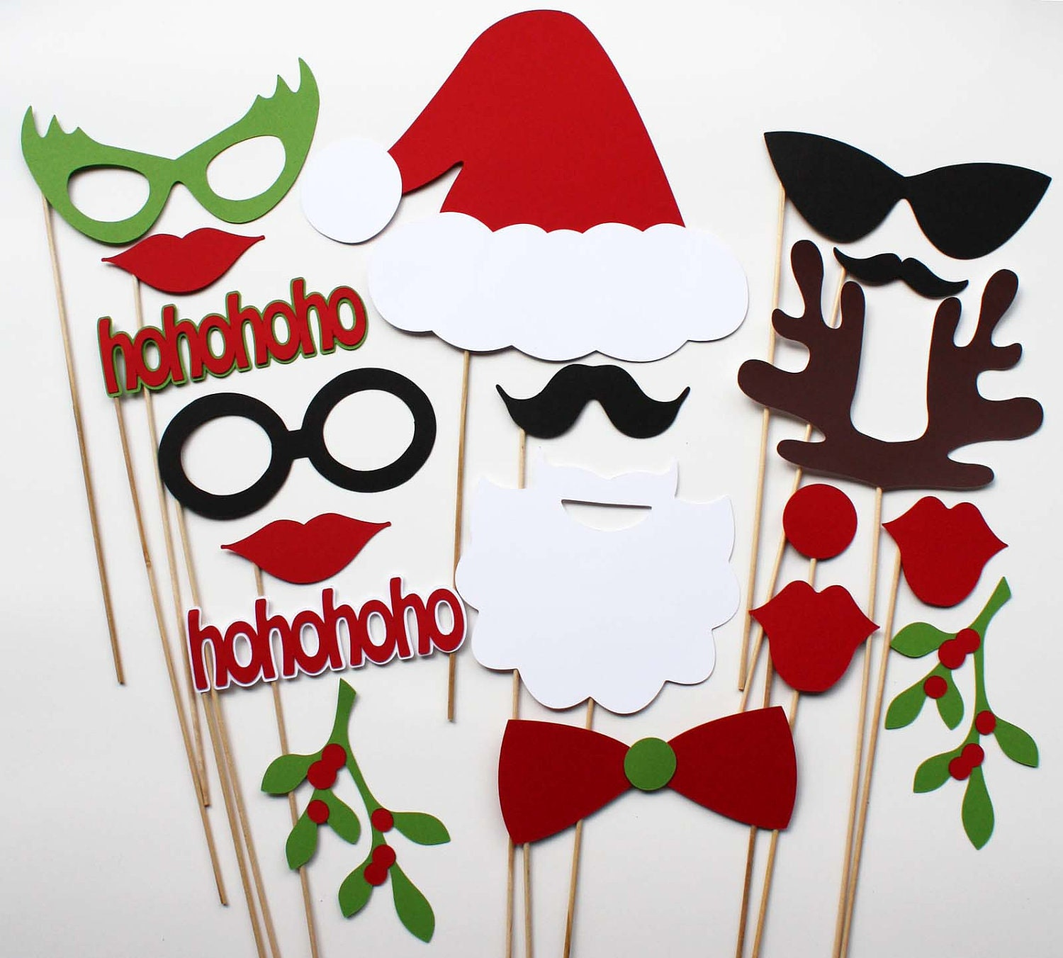 Christmas party piece photo booth props by bebopprops