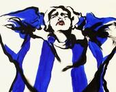 "8"" x 10"" Expressive Fashion Illustration Art Giclee Print--HEADACHE"