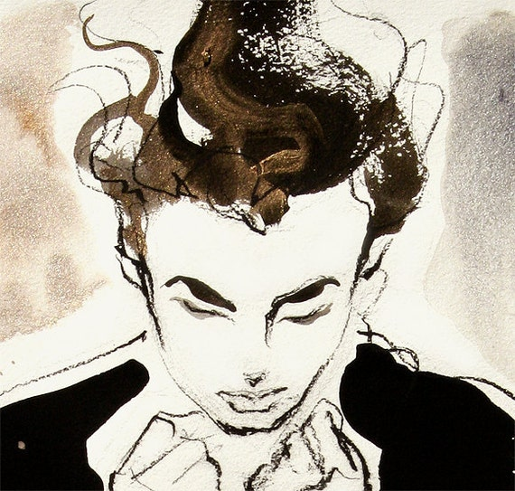 """Giclee Print. Limited-Edition Reproduction Poster.  Fashion Illustration -- ORLANDO, 13"""" X 19"""""""