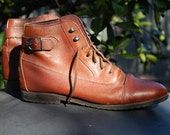 ON HOLD for Katie Brown Leather Ankle lace up Pixie Boots
