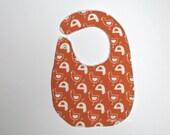 Tangerine Baby Bib Organic Cotton orange and beige bay bib - Europeanstreetteam - ptteam
