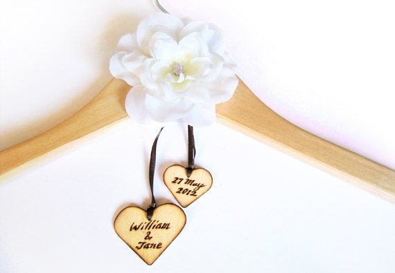 Custom wood hanger wedding photography prop photo prop customized hanger bridal hanger rustic wedding prop wooden hanger bridal gown hanger