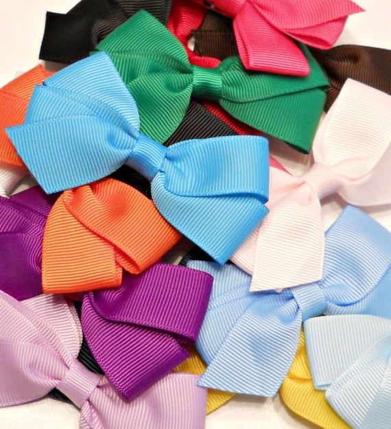 READY TO Ship - 1.00 Hair Bows/ Set of 10/ Great For Newborns, Infants, and Toddlers/ 3 Inch Bows/ Wholesale Bows