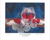 Cherry Delight Fine Art Print Size Apx 5x7
