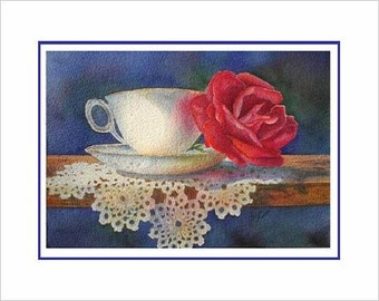 Comfort and Joy  Holiday Teacup Note Cards, Pack of 6