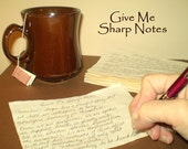 Give Me Sharp Notes Poem - Handwritten Poetry - Grand Opening Sale