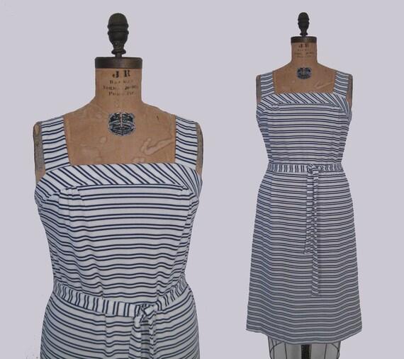 vintage 70s nautical stripe sundress : vintage on the beach dress