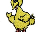 Sesame Street Big Bird Cartoon Embroidered Iron On Applique Patche