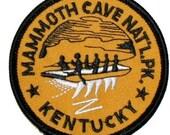 Kentucky Mammoth Cave National Park Iron On Travel Souvenir Applique Patch