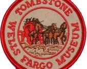 California Wells Fargo Museum Tombstone Iron On Travel Souvenir Applique Patch