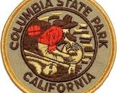 California Columbia State Park Iron On Travel Souvenir Applique Patch