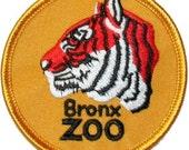 New York NY Bronx Zoo Tiger Iron On Travel Souvenir Applique Patch