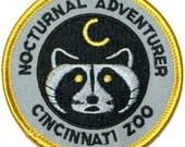Nocturnal Adventures Cincinnati Zoo Iron On Travel Souvenir Applique Patch