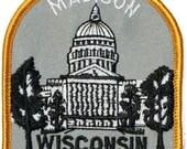 Madison Wisconsin Iron On Travel Souvenir Applique Patch