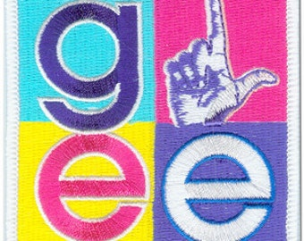 Glee Four Square Loser Embroidered Iron On Applique Patch