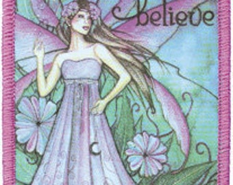 Jessica Galbreth Just Believe Silk Screen Iron On Applique Patch