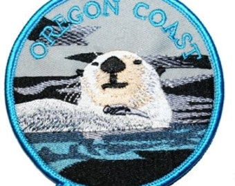 Oregon Coast Sea Otter Iron On Travel Souvenir Applique Patch