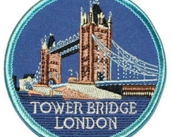Tower Bridge London Iron On Travel Souvenir Applique Patch