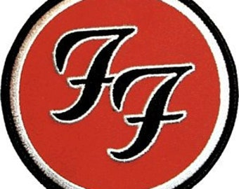 Foo Fighters FF Logo Music Band Embroidered Iron On Applique Patch CD392