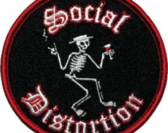 Social Distortion Skeleton Music Embroidered Iron On Applique Patch CD747