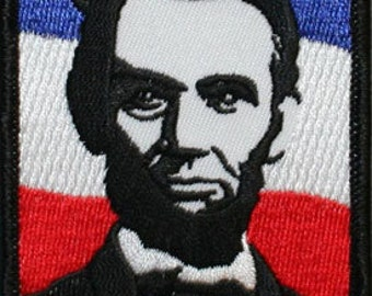 Artist Dave Cherry Abe Abraham Lincoln Embroidered Iron On Applique Patch FD