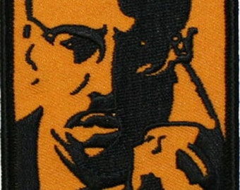 Artist Dave Cherry Malcolm X Embroidered Iron On Applique Patch FD