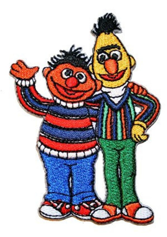 Sesame Street Bert & Ernie Embroidered Iron On Applique Patch