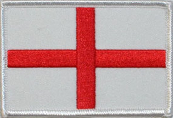 St. George's Cross Flag England British Embroidered Iron On Applique Patch FD