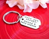 Personalized Keychain - Hand Stamped Gift - Rectangular Dog Tag Disc Engraved with Short Phrase of Your Choice - Father's Day Gift