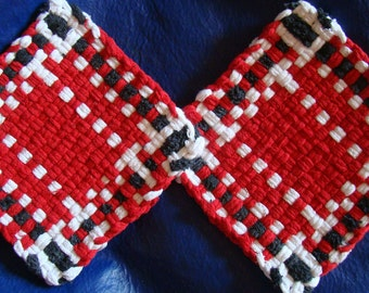 OSU Buckeyes or Georgia Bulldogs - CUSTOM potholders for charity - set of 2 in red, black and white