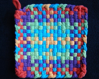 2 Potholders for Charity - Custom colors - Made by child - ALL proceeds donated
