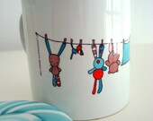 Mug - with teddy rabbits and bears