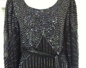 SaLe--Authentic Sister Max Designer Couture Beaded Dress (1920's style) alternative to wedding dress