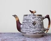 vintage arthur wood silver shield teapot