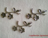Silver Plated Branch (2 Rings) - 3pcs