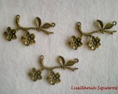 Bronze finished Branch (2 Rings) - 3pcs