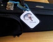 Personalized Instrument Tag - Hedgehog Violin and Viola