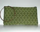 Green Patterned Clutch/Wristlet