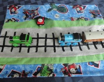 Thomas the Tank Engine Train Car Caddy Roll Up Play Mat