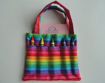 Rainbow Children's Crayon Bag and Customized Paper